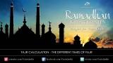 Ramadan Khatirah – Fajr Calculation: The different times of Fajr – Dr. Yasir Qadhi | 3rd August 2011