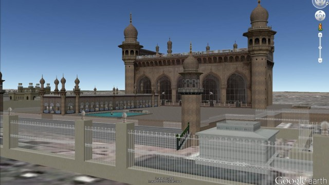 MASJIDS OF INDIA IN GOOGLE EARTH