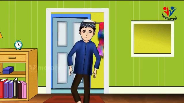 When entering into toilet and Dua Islamic Cartoon for Children